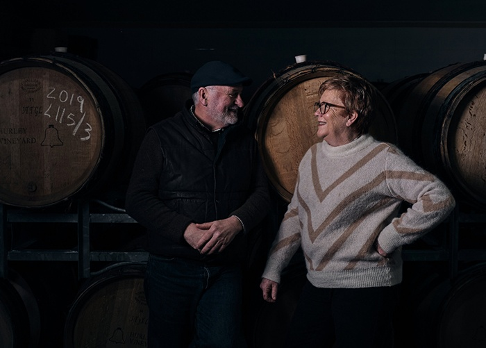 Kevin Bell and Trish Byrnes of Hurley Vineyard
