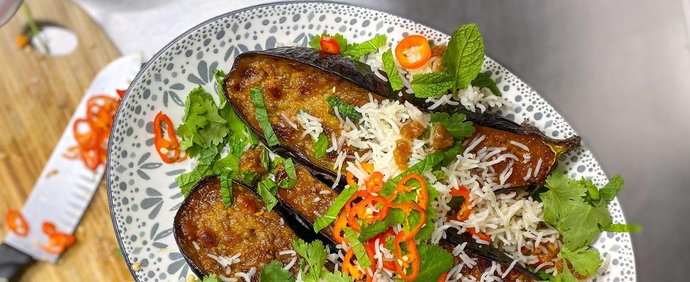 Misso glazed eggplant