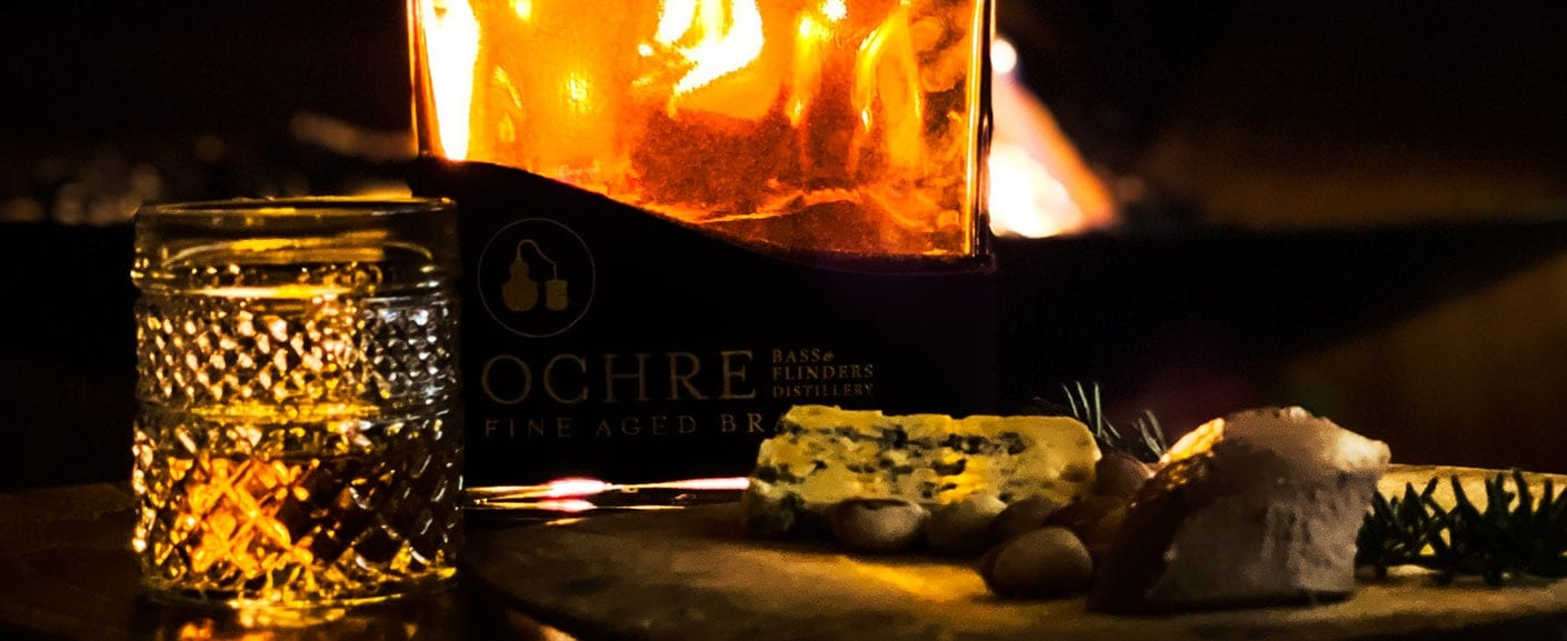 Ochre Cognac with cheese, pate and nuts