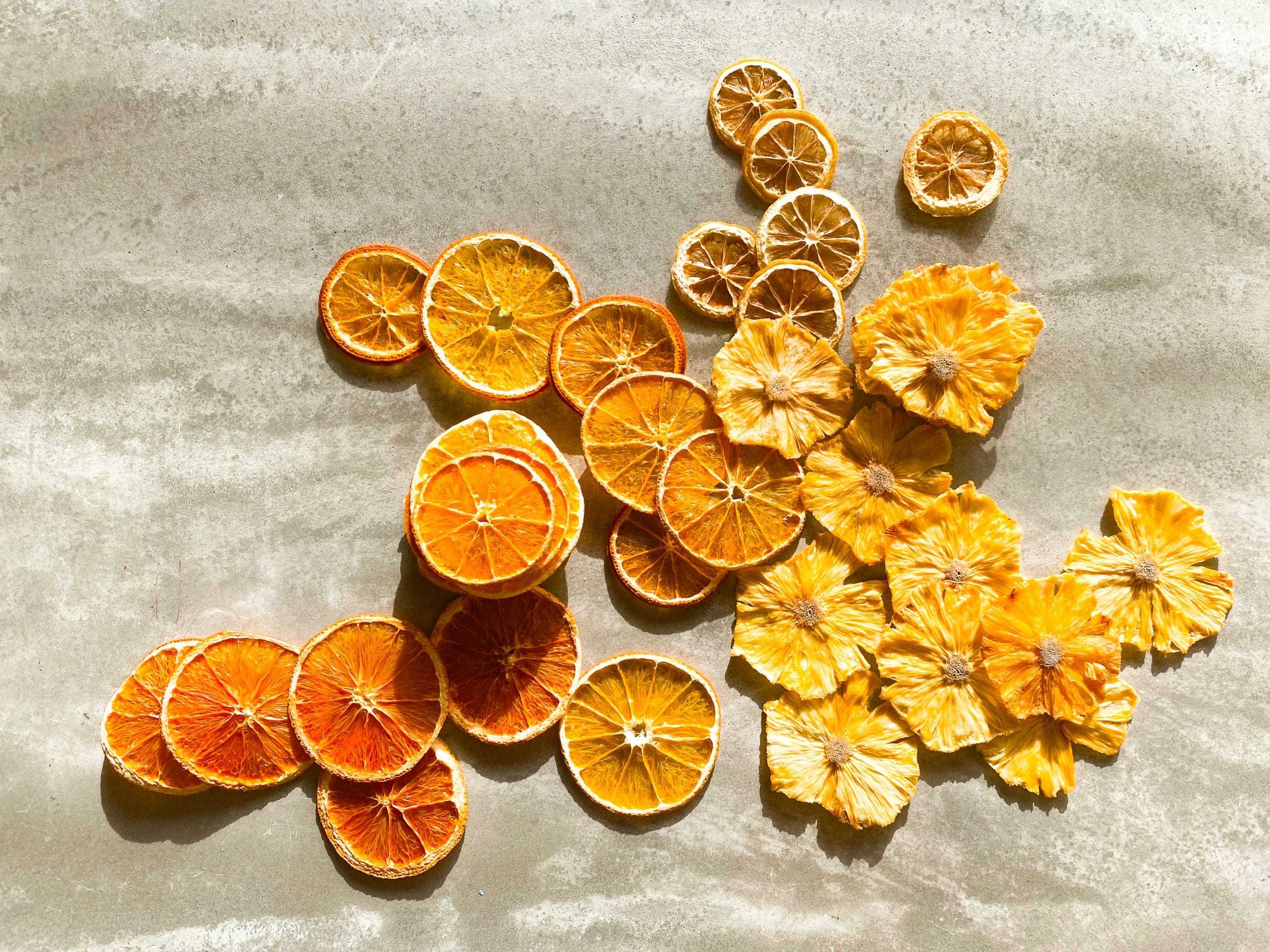 """Dehydrated citrus and pineapple by """"The Peel Thing"""""""